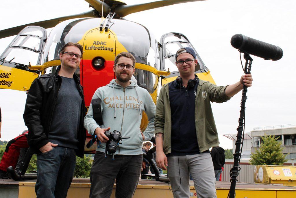 Imagefilm mit ADAC Hubschrauber und Rettungsteam